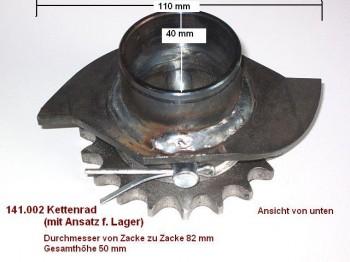 Kettenrad mit Ansatz für Lager 1/2 Zoll Hofmann GT 2.0 GT 2.5 / 2.5 DB GE 2.5 GS 2.5 Duolift