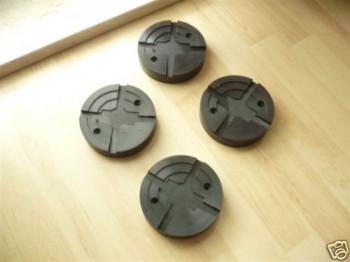 Auflageteller Gummiauflagen für Slift Hebebühnen (125mm x 28mm, mit Stahleinlage)