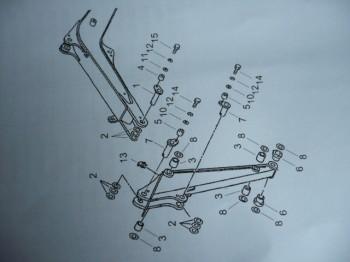 Set pin kit Yanmar B15-3 mini excavator ADB00400