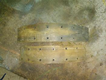 Bremsbacke Bremssteine Bremse Bremsbeläge VEB Takraf VTA DFG 6302 HG Gabelstapler