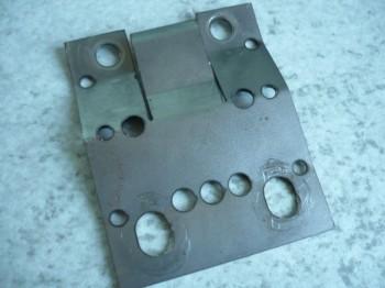 Verbindungsblech für Tragmutter Zippo Bühne Typ 1001 1111 1211 1401 1411 / 2-4 Tonnen (zwischen Tragmutter und Sicherheitsmutter)