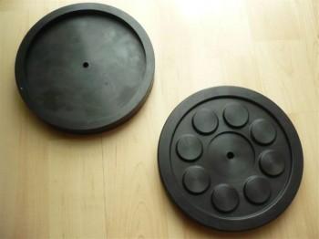 Auflageteller Gummiteller Gummiauflagen für Hofmann Hebebühne Typ GS 5.0 (160mm x 24mm)