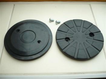 Auflageteller Gummiteller für autop und Stenhoj Mascot Hebebühne (123 mm x 12 mm, mit einvulkanisierte Metallscheibe)