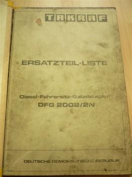 VEB DDR Gabelstapler Anleitung ErsatzteillisteTakraf Stapler DFG 2002/2N-A