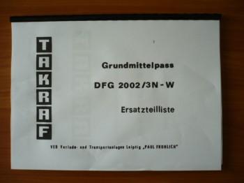 VEB DDR Gabelstapler Ersatzteilliste Takraf VTA Stapler DFG 2002/3N-W