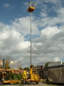 MBB Teleskop Arbeitsbühne Hubbühne Hebebühne Allzweckbühne Typ G1200 BG
