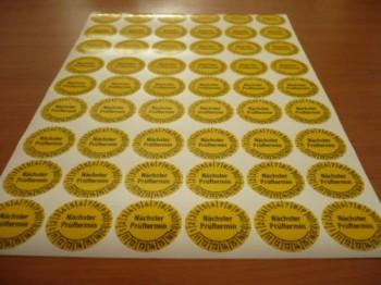 54 UVV Prüfplaketten für Arbeitsbühnen Hubbühnen Hebebühnen Jahr 2013-2018