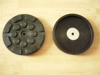 Auflageteller Gummiteller für Zippo Hebebühne (126mm x 22mm mit Stahleinlage + 1 Mittellochbohrung)