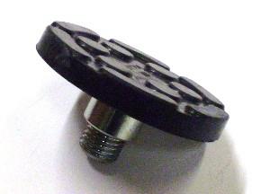 Aufnahmeerhöhung + Gummiaufnahme für Zippo Hebebühne (135mm x 17mm mit Stahlteller + runder Aufsteckhülse)