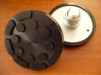 Aufnahmeerhöhung mit Drehteller für Zippo Hebebühne u.a. Typ 2135 (140mm x 22mm mit auswechselbarer Gummiauflage + runder Aufsteckhülse)