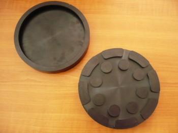 Gummiteller für Aufnahmeerhöhung Zippo Hebebühne Typ 2135 2130 2030 2140 (140mm x 22mm, ca. 134mm Teller Innenmaß)
