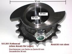 Kettenrad Antriebsrad 1/2 Zoll für Hofmann Hebebühne GT 2500 GTE 2500 GE 3.0 Duolift