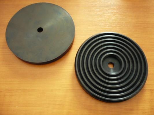 Auflageteller Gummiteller für Werther Hebebühne (142mm x 16mm)