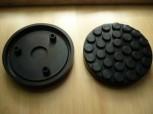 Auflageteller Gummiauflagen für Ravaglioli u.a. Typ KPN 305 D (146mm x 26mm mit drei Gummiröhren zum stecken)