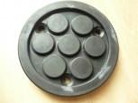 Auflageteller Gummiteller für Zippo 1250 Hebebühne (120mm x 15mm 3 Löcher mit durchgehender Stahleinlage)