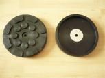 Auflageteller Gummiteller für Zippo Hebebühne Typ 1311 1313 (126mm x 22mm mit Stahleinlage + 1 Mittellochbohrung)