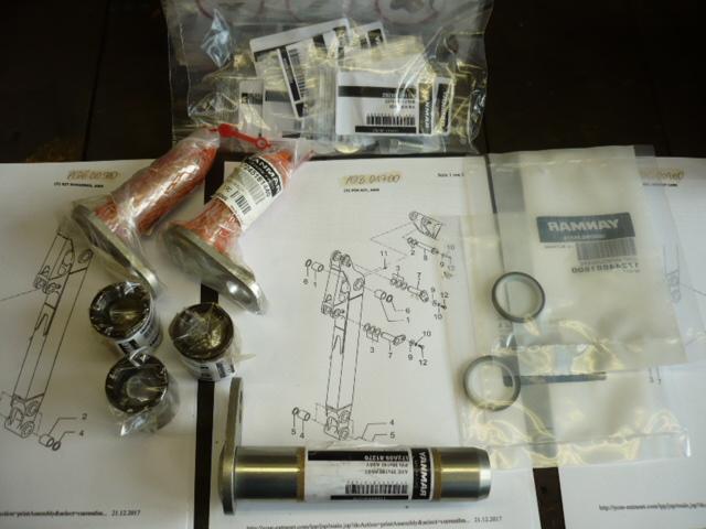 Bolt bushing gasket rings set Yanmar SV17 mini excavator