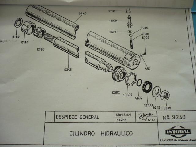 Atemberaubend Dichtsatz Manschette Hydraulikzylinder 9240 ISTOBAL 42724-04 Bühne @UQ_01