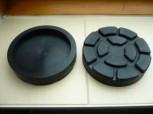 Auflageteller Gummiteller für Beissbarth Romeico Hebebühne R 224 bis R 236 (123mm x 25mm ohne Stifte mit Stahleinlage)
