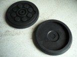 lift pad, rubber pad, rubber plate for Eurolift (128mmx22mm)