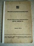 VEB DDR Forklift Manual Instruction Manual Takraf VTA Forklift DFG 3202 N