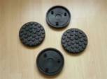 lift pad, rubber pad, rubber plate for Ravaglioli lift (120mm x 24mm + pins)