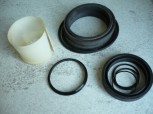 Hydraulic seal kit VEB Fortschritt T174 mobile excavator DDR machinery (Cylinder with 70mm rod, square head)
