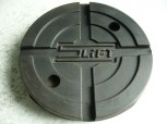 lift pad, rubber pad, rubber plate for Slift lift (125mm x 28 mm, with steel insert)