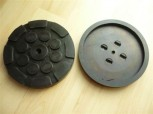 lift pad, rubber pad, rubber plate for Herrmann lift (120mm x 16mm, reinforced version with steel insert)