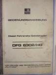 Bedienungsanweisung Anleitung für DDR Gabelstapler Takraf Stapler Typ DFG 6302 / HG VTA