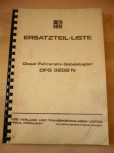 Ersatzteilliste-Anleitung für DDR Gabelstapler Takraf Stapler Typ DFG 3202 N