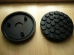 lift pad, rubber pad, rubber plate for Ravaglioli inter alia Type KPN 305 D (146 mm x 26 mm)