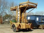 VEB Mastkletterbühne Arbeitsbühne Hebebühne FH 1600 DDR Bauaufzug Gerüst Lift