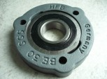 1x radial insert ball bearing + bearing flange respectively four-point contact ball bearings for Maha Econ III lift (upper spindle bearing)