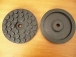 Auflageteller Gummiteller für Ravaglioli Hebebühne (144mm x 20mm 1 Mittelloch)