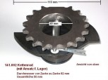 chain sprocket wheel with attachment for bearing for Hofmann Mono lift ME 2.0 / 1 post lift