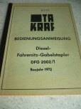 Bedienungsanweisung VTA Takraf VEB Gabelstapler DFG 2002/1