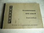 Grundmittelpass Ersatzteilliste VEB Takraf Gabelstapler DFG 3202 N